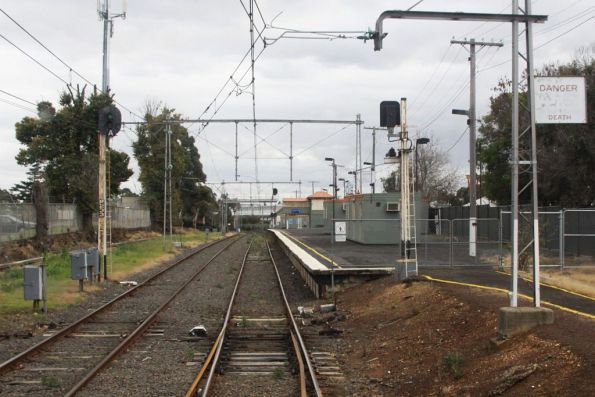 Up end of the platform at Showgrounds