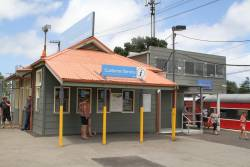 Ticket booth still in place at Showgrounds station