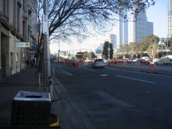 Demolition of the King Street overpass on Flinders Street
