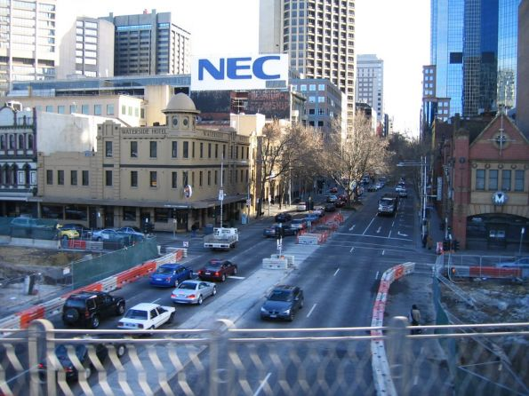 Nothing left of the Flinders Street Overpass at King Street