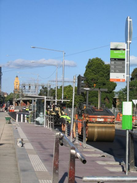 New platform stop at the Flinders and Spencer Street intersection