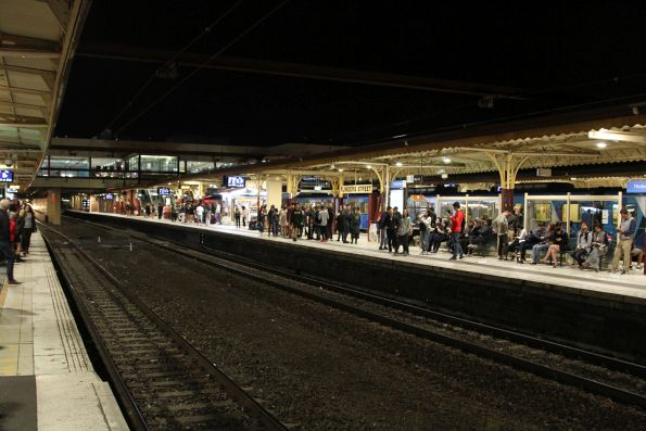 LED lighting now retrofitted to all platforms at Flinders Street Station