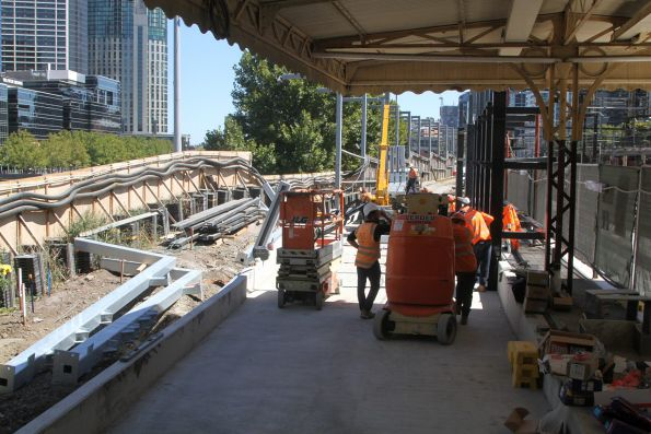 Work underway on an additional western entrance to platform 10