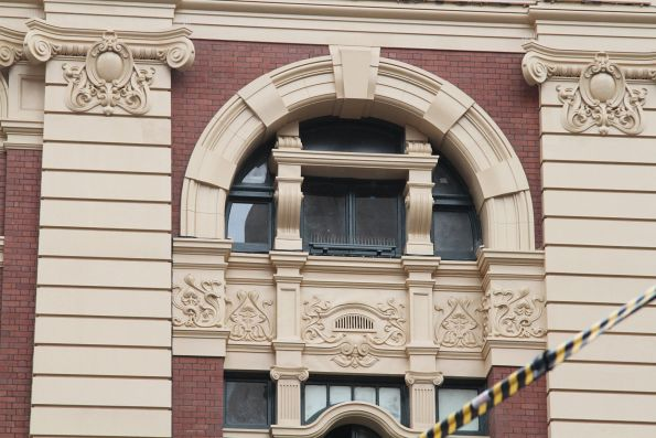 Bird spikes installed on the repainted Flinders Street Station facade