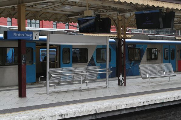 New 'bum racks' on the platforms beside conventional seats