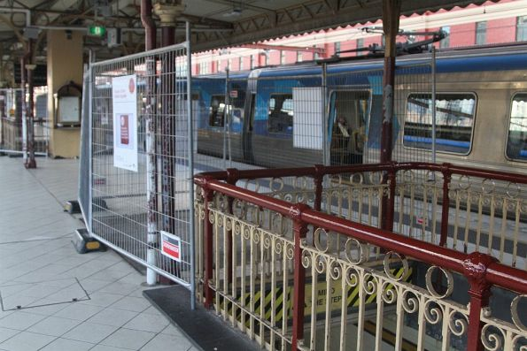 Red Engine kiosk at platform 4 and 5 has been demolished