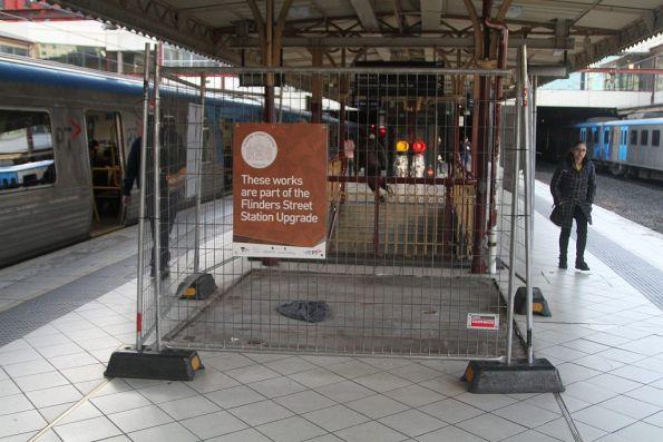 Red Engine kiosk at platform 4 and 5 has been demolished