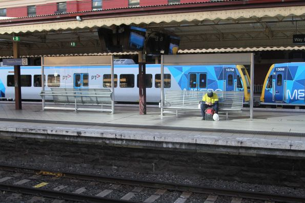 New seats and windbreakers on the platform