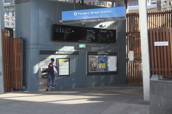 New Yarra River entrance to Flinders Street platform 10