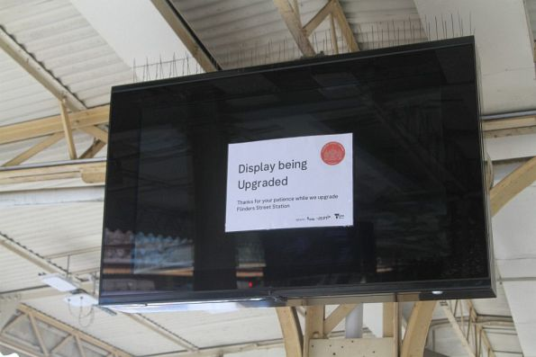 New LED screens still waiting to be switched on
