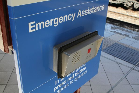 Relocated 'emergency assistance' button