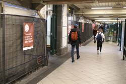 Work underway to restore the tiling in the Elizabeth Street subway