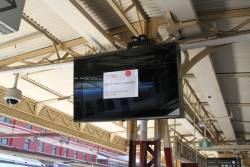New LCD summary boards have yet to be switched on at Flinders Street Station