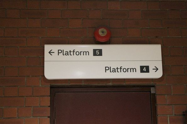 New style signage at platform 4 and 5
