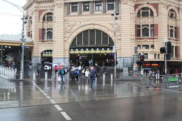 Complete hostile vehicle security upgrade works on Flinders Street