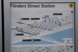 New schematic diagram of Flinders Street Station on display for passengers