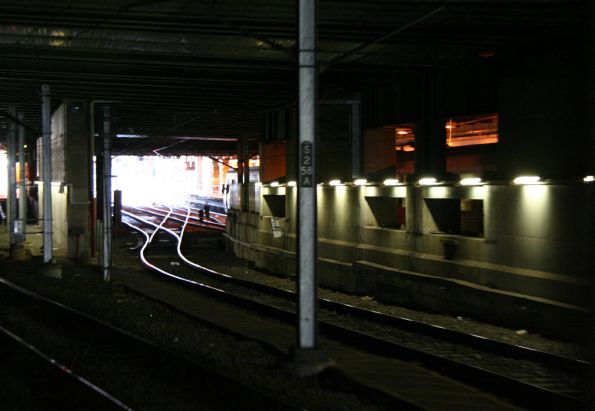 Tracks leading to platform 1 and 2