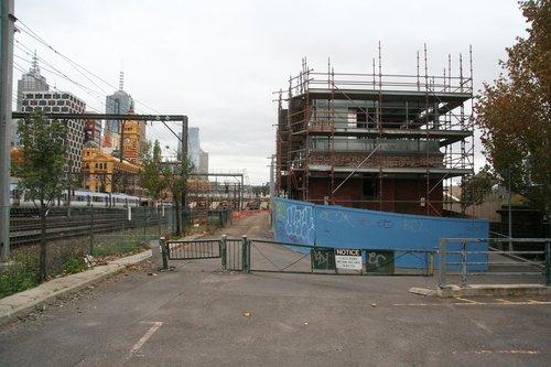 Flinders Street A box being rebuilt