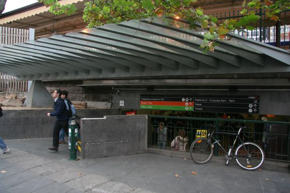 South end of the Elizabeth Street subway