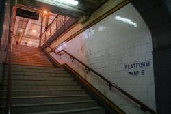 Steps up to platform 6/7 from the Centre Subway
