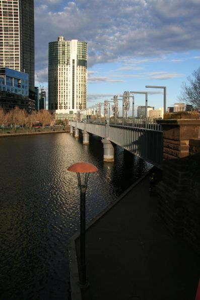 Looking down the Sandridge Bridge