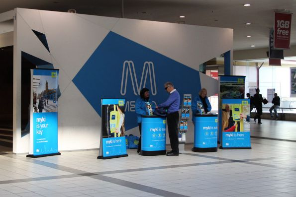 Still plugging away promoting Myki at Flinders Street Station