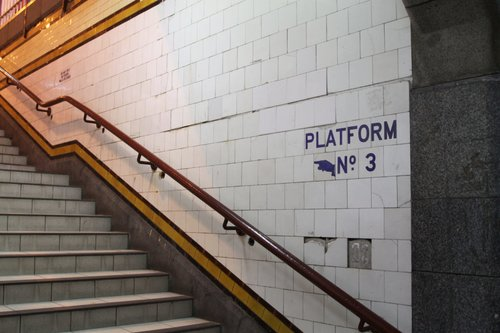 Missing tiles: Centre Subway to platform 2/3