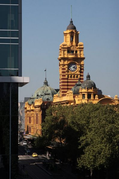 Elizabeth Street clocktower viewed from the west