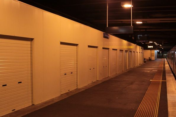 Storage lockers along platform 13
