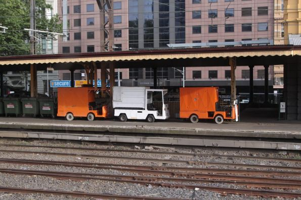 Trio of electric vehicles used to deliver dodgy dim sims to the Flinders Street Station platform kiosks