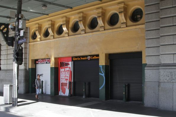 'Glory Hole' coffee shop at the Elizabeth Street end of the station