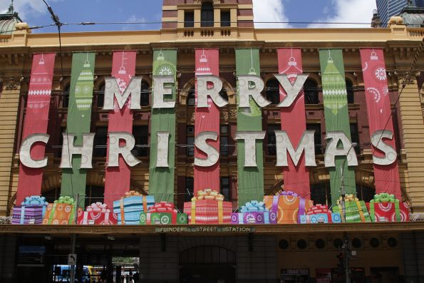 'Merry Christmas' sign at Flinders Street Station back for the fourth year in a row