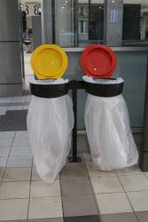 Rubbish bins finally return to Flinders Street Station!
