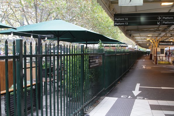 Flinders Street Station - New 'Arbory' bar located at the former platform 11