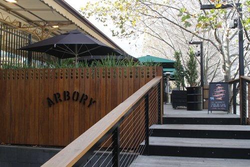 Entrance to the new Arbory Bar, built on the former Flinders Street platform 11