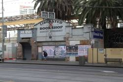Porno bookshop on Flinders Street, now being renovated?