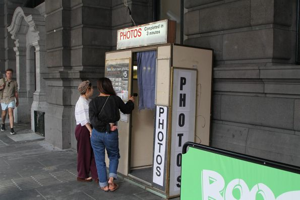 Photo booth at Flinders Street Station has been relocated elsewhere on the Flinders Street frontage