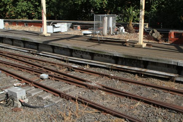 Disused tracks at the west end of the Milk Dock