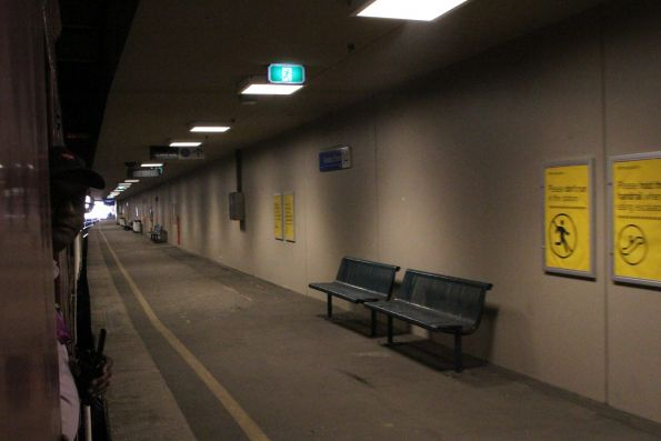 Down in the dungeon at Flinders Street platform 14
