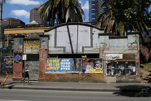 Porno bookshop on Flinders Street partially gutted, then abandoned