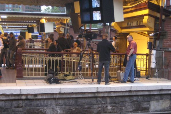 Filming at Flinders Street