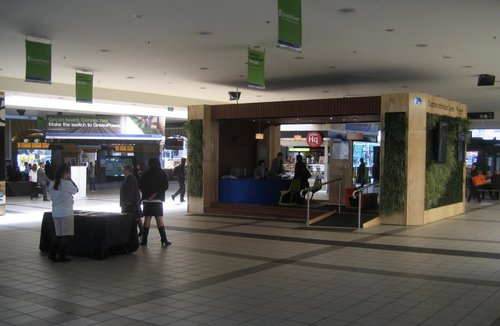New customer information booth at Flinders Street Station
