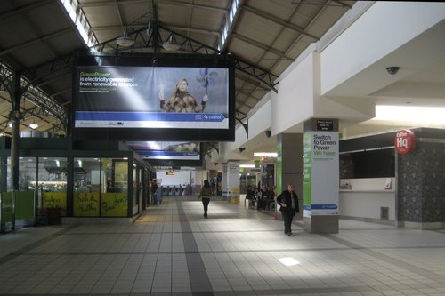 Covered over Solari boards on the main concourse at Flinders Street Station