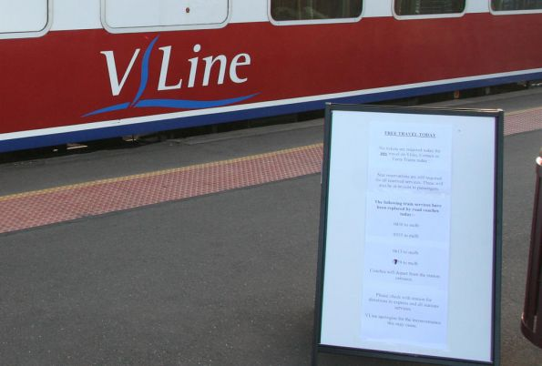 Free Victorian rail travel, January 2009