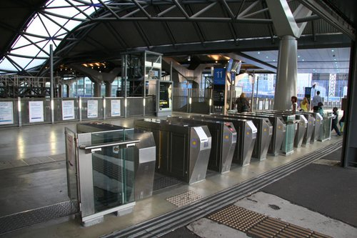 Barriers open at Southern Cross for the free travel day, Friday January 30