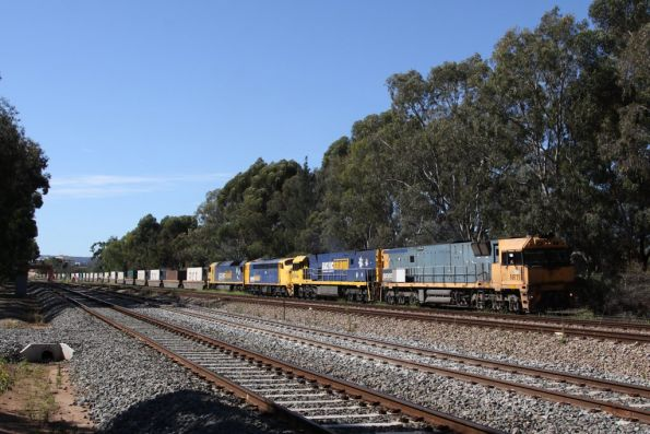 Back on the move at Torrens Junction: NR11, NR96, S307 and AN7 on a ex-Melbourne service