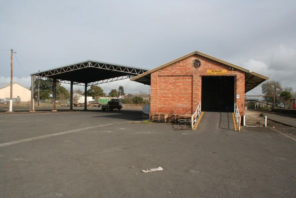 Truss framed shed at Colac beside the brick goods shed