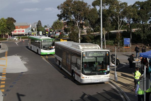 Tullamarine Bus Lines 5974AO on a Sunbury line rail replacement service at Sunshine