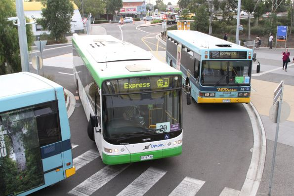 Bus congestion in the interchange at Sunshine station