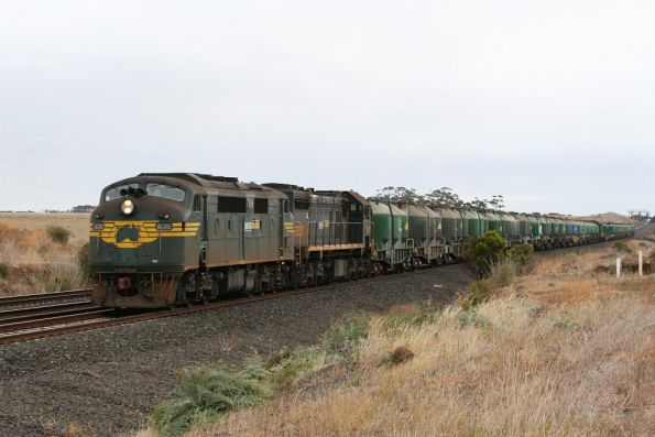 A78 and X31 on a down North Geelong freight outside Little River